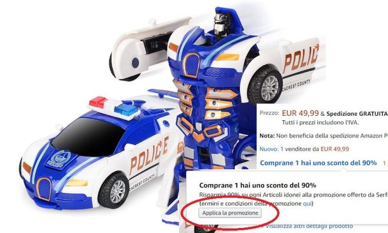 new product 955cf 3a33f Giocattoli per bambini scontati del 90% su Amazon – Prezzi ...