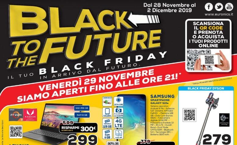 Black Friday Euronics Black To The Future Volantini
