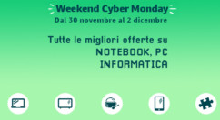 🤖 Weekend Cyber Monday Amazon | Informatica, PC e Notebook: Monitor 24″/27″ da 89€/119€ – Notebook da 199€ – Tante MicroSD e SSD in offerta (agg. 02/12)