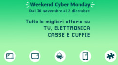 🤖 Weekend Cyber Monday | TV, Elettronica, Casse e Cuffie: Arlo Pro 199€ – Bose Solo 5 149€ – OLED 65″ Philips 1499€ – OLED 55″ LG + Soundbar a 1299€