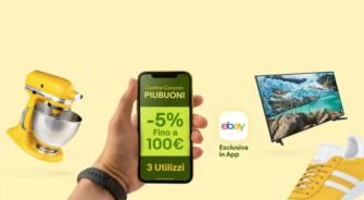 eBay: sconto del 5% su tutto fino ad un massimo di 100€ utilizzabile 3 volte! – TERMINATO