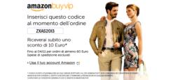 Amazon Buyvip sconto di 10 Euro su ordini di 60 Euro