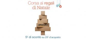 Amazon.it: solo fino a mezzanotte 5 Euro di sconto su 25 Euro d'acquisto
