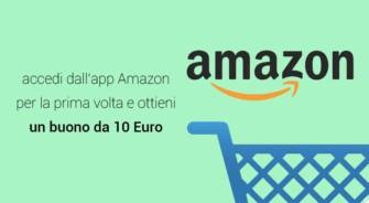 Accedi all'App Amazon per la prima volta e ottieni un Buono Regalo da 10€ – Scadenza 14/02/2020