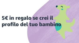 Amazon: crea un profilo bambino e ricevi un Buono Regalo da 5€ – Scade 31/08/2020