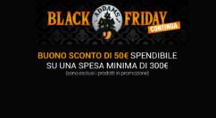 💰 Black Friday Unieuro: buono sconto da 50€ su una spesa minima di 300€