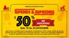 Carrefour: Spendi & Riprendi il 50% sull'acquisto di giocattoli fino al 24 dicembre