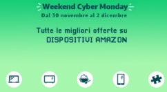 🤖 Weekend Cyber Monday Amazon | Tutti i dispositivi Amazon in offerta: FireTV Stick da 24.99€ – Echo Dot 19.99€ – FireHD 8 69.99€ – Ultime ore
