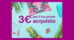 eBay: 3€ di sconto sul tuo primo acquisto senza spesa minima