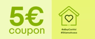 eBay: buono sconto di 5€ utilizzabile su tantissimi prodotti