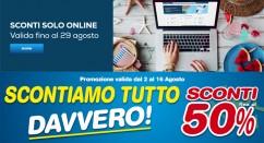 """Volantini Euronics di Agosto 2018 + """"Sotto Costo Solo Online"""""""