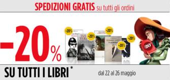 Feltrinelli: sconto del 20% + spedizione gratuita su tutti i libri