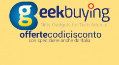 Codici Sconto Geekbuying: Redmi 4X da IT a 119€ – DJI Mavic Air 645€ – Xiaomi A1 da IT 171€  – Jumper EZBook 2  147€ (da IT) – Oneplus 5T 8gb/128gb 460€ – Xiaomi Notebook Pro i7 751€ (agg. 20/03/2018)