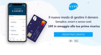 """Hype: Carta di Credito Ricaricabile Gratis e 10€ in regalo alla prima ricarica di 1€ + Promozione """"Presenta un amico"""" – ULTIMA SETTIMANA"""