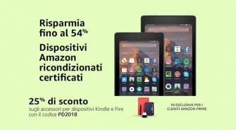 #Primeday – Fino al 54% su dispositivi Amazon ricondizionati certificati + 25% su accessori Kindle e Fire