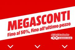 """Nuovo volantino Media World """"Megasconti"""""""