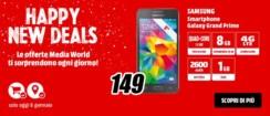 Samsung Galaxy Grand Prime a 149 Euro solo per oggi da MediaWorld
