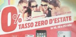 "Nuovo volantino MediaWorld ""Tasso Zero D'Estate"""