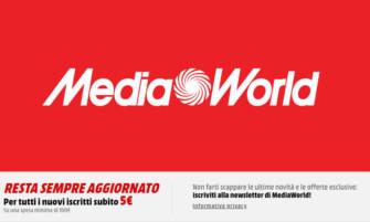 Media World: 5 Euro di sconto su 100 Euro di acquisto iscrivendovi alla newsletter (agg. 10/01/2019)
