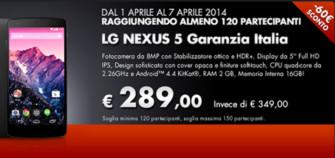 LG Nexus 5 a 289 Euro! (Aggiornato)