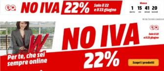 """MediaWorld """"Weekend NO IVA"""" solo il 22 e 23 giugno 2019"""