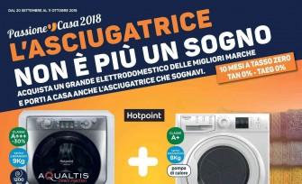 """Nuovo volantino Unieuro """"Passione Casa 2018"""": asciugatrice in regalo con acquisto di alcuni grandi elettrodomestici"""