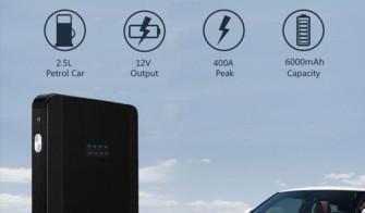 Starter/Power Bank 6000mAh/400A a 20,93€ con codice sconto – Scaduto