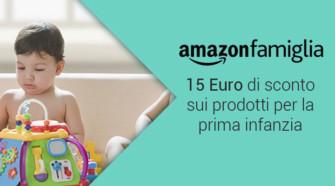 Ricevi uno sconto di 15 Euro per prodotti Prima Infanzia su Amazon Famiglia