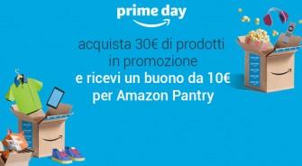 #Primeday – Sconto di 10€ su Amazon Pantry acquistando 30€ di altri prodotti