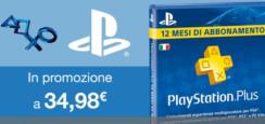 PlayStation Plus Card Sottoscrizione 365 Giorni a 34,99 Euro