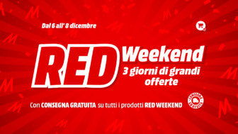 MediaWorld Red Weekend dal 6 all'8 dicembre