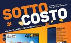 """Nuovo volantino Unieuro """"Sottocosto"""" + Codice Sconto di 10€ su acquisto minimo di 99€"""