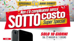 Sottocosto Comet: iPhone 7 649€ – Macbook Air 849€ – Xbox One S 199€ – PS4+PSPlus 90gg+DS4 239€ – TV 55″ 4K 549€