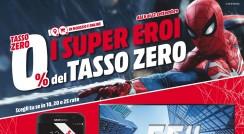 "Nuovo volantino Media World ""Supereroi a tasso 0"""