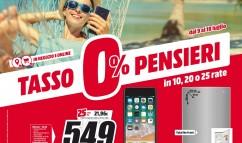 "Nuovo volantino MediaWorld ""Tasso 0% Pensieri 0%"""