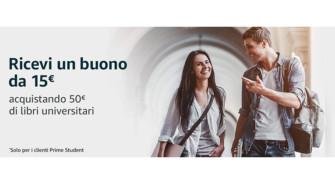 Amazon: ricevi un buono del valore di 15€ acquistando 50€ di libri universitari – Scadenza 11/04/2020