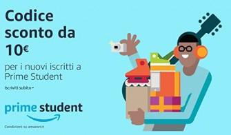 Amazon: 10€ di sconto per i nuovi iscritti a Prime Student – Scade 31/07/2020